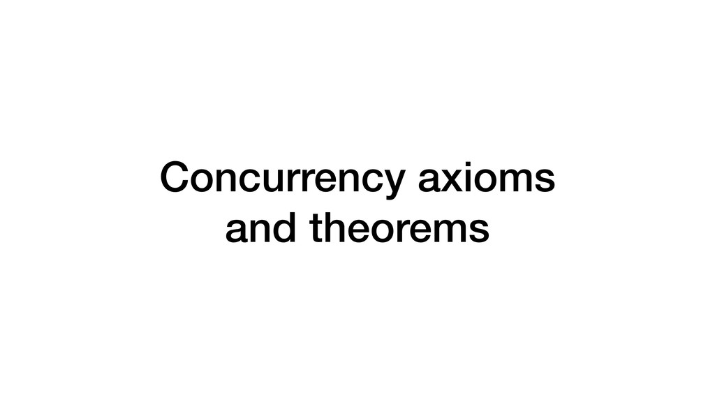 Concurrency axioms and theorems