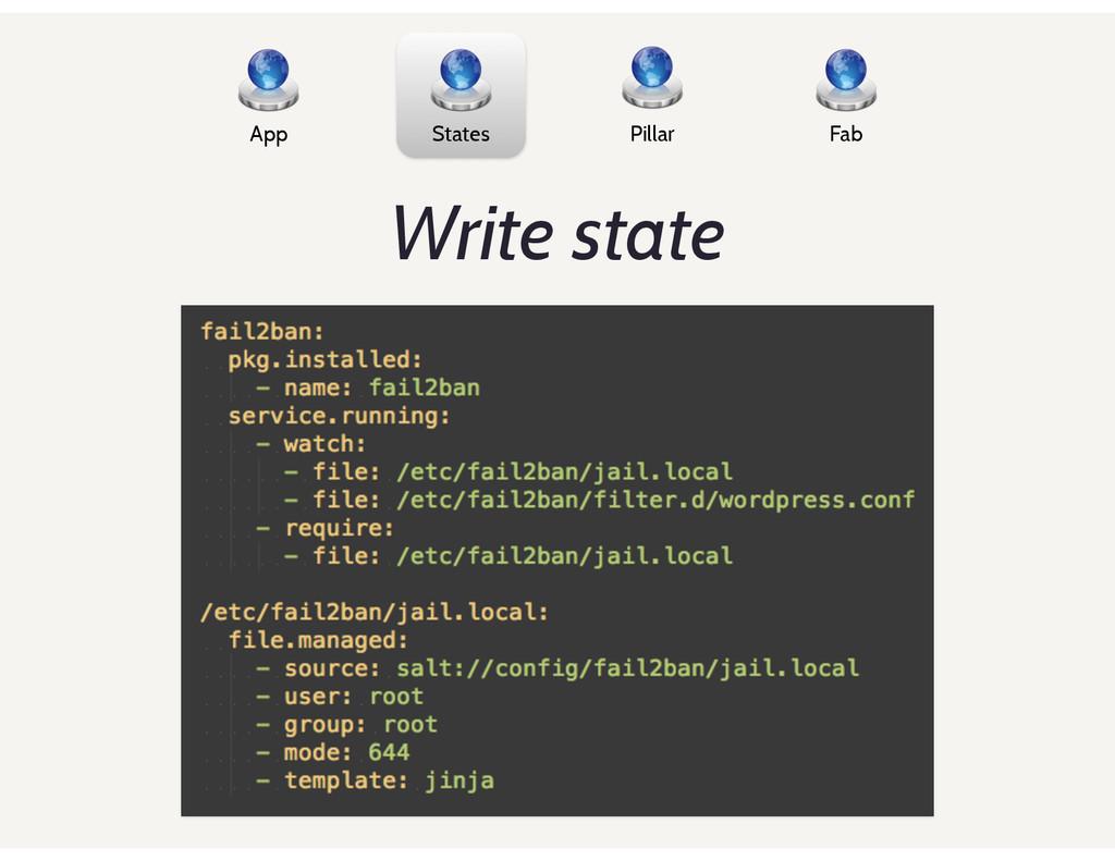 App States Pillar Fab Write state