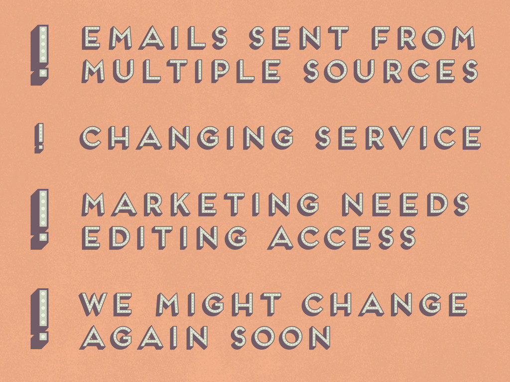 emails sent from multiple sources changing serv...