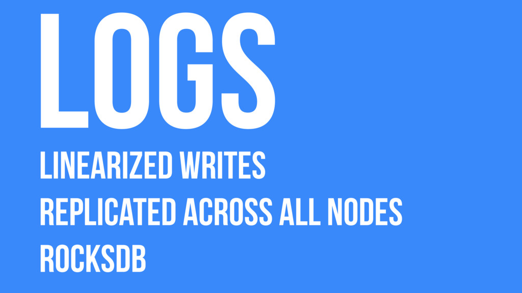 Logs Linearized Writes Replicated across all no...
