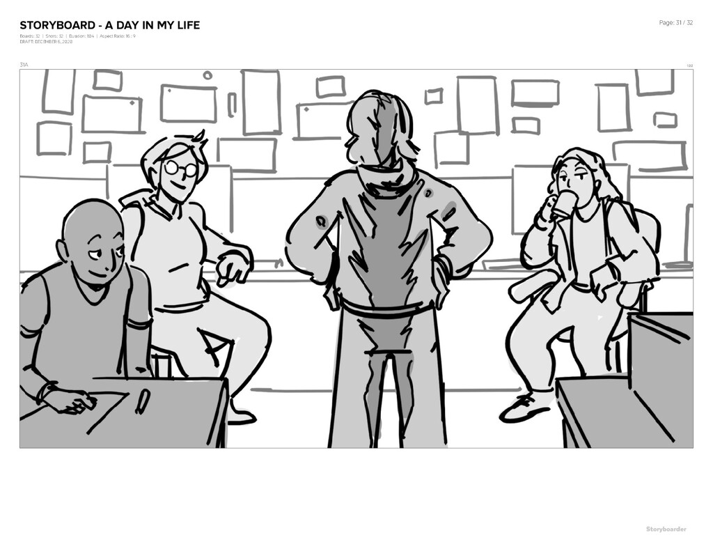 STORYBOARD - A DAY IN MY LIFE Boards: 32   Shot...