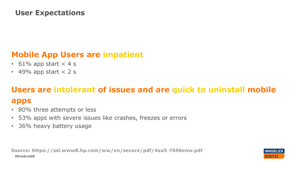 #DroidconDE User Expectations Mobile App Users ...