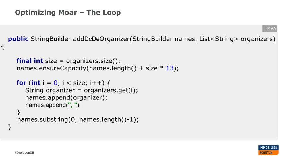 #DroidconDE Optimizing Moar – The Loop public S...