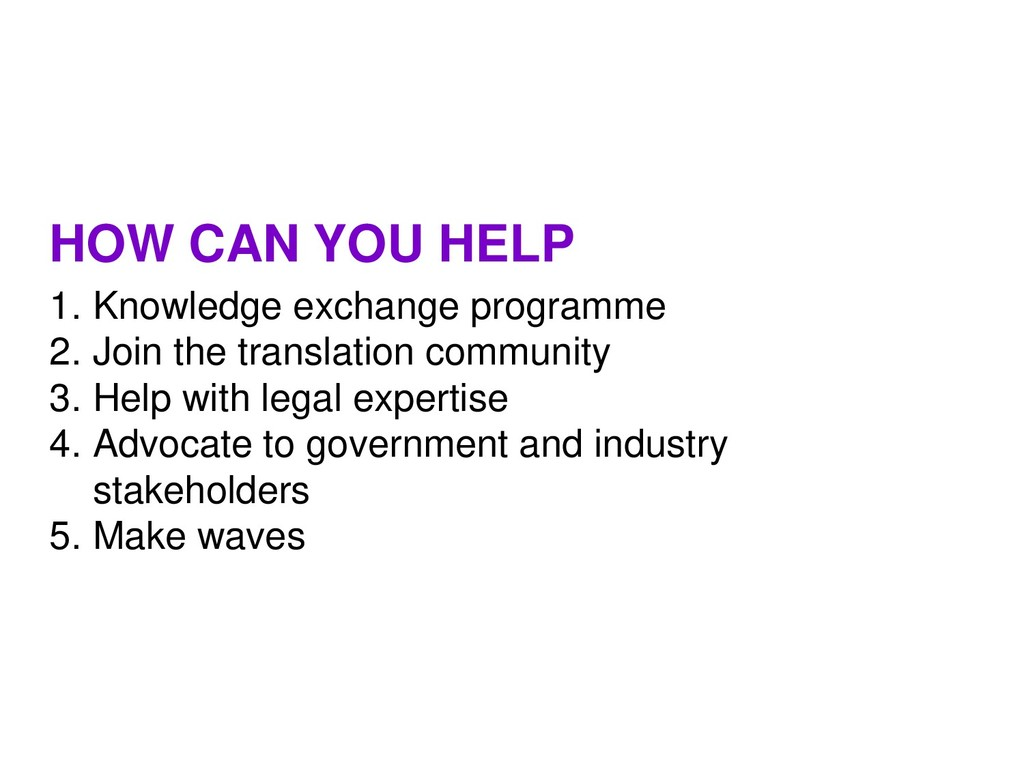1. Knowledge exchange programme 2. Join the tra...