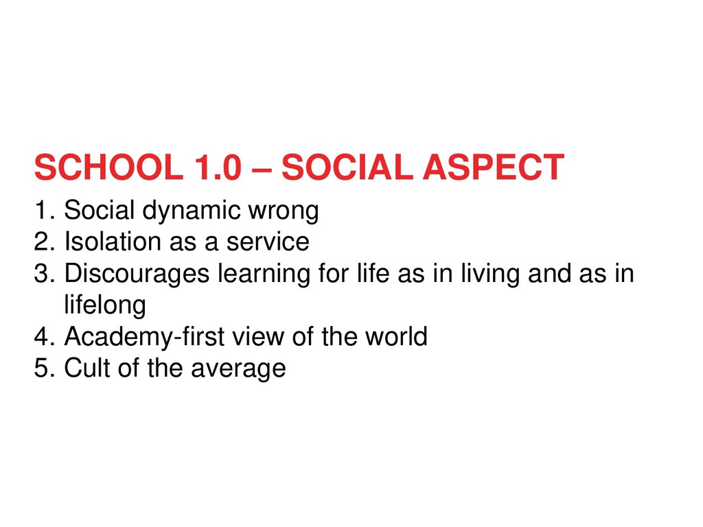 1. Social dynamic wrong 2. Isolation as a servi...