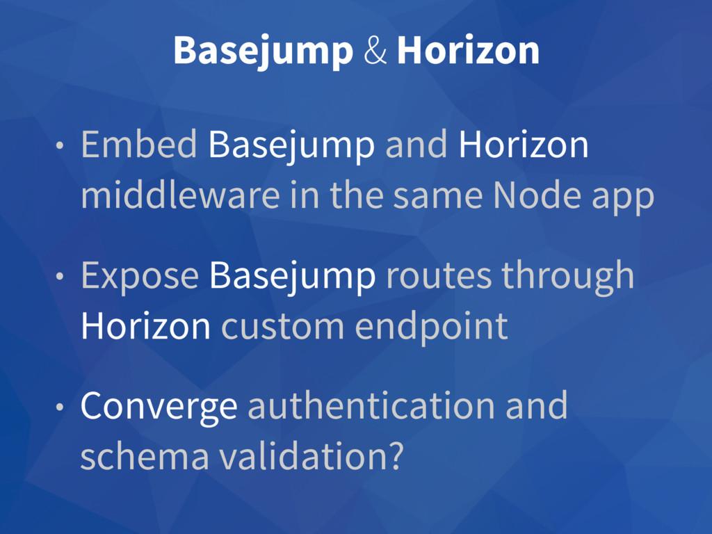 Basejump & Horizon • Embed Basejump and Horizon...