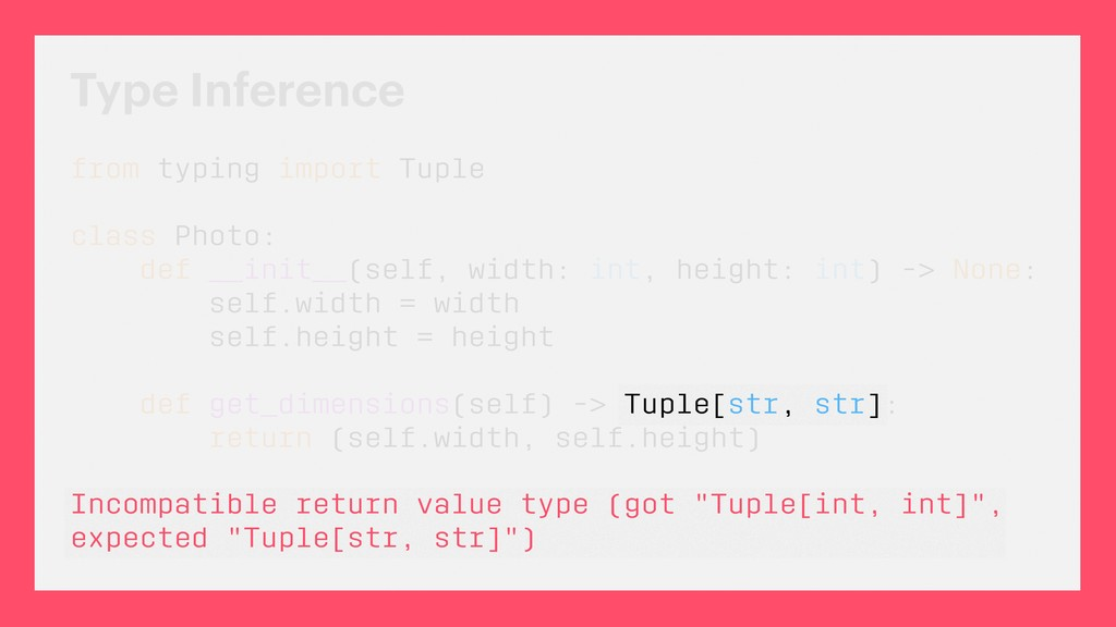 Type Inference Incompatible return value type (...