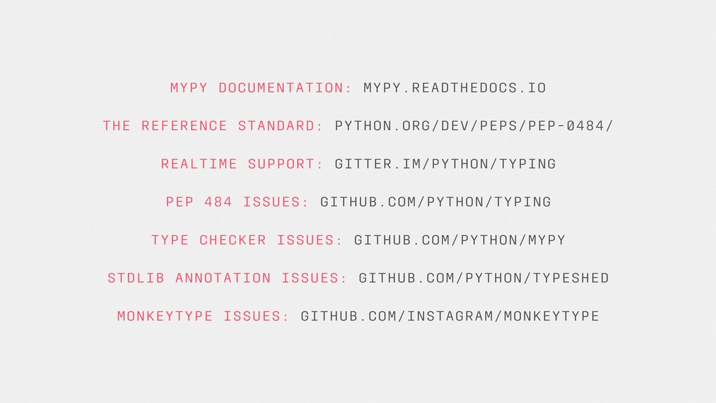 MYPY DOCUMENTATION: MYPY.READTHEDOCS.IO THE REF...