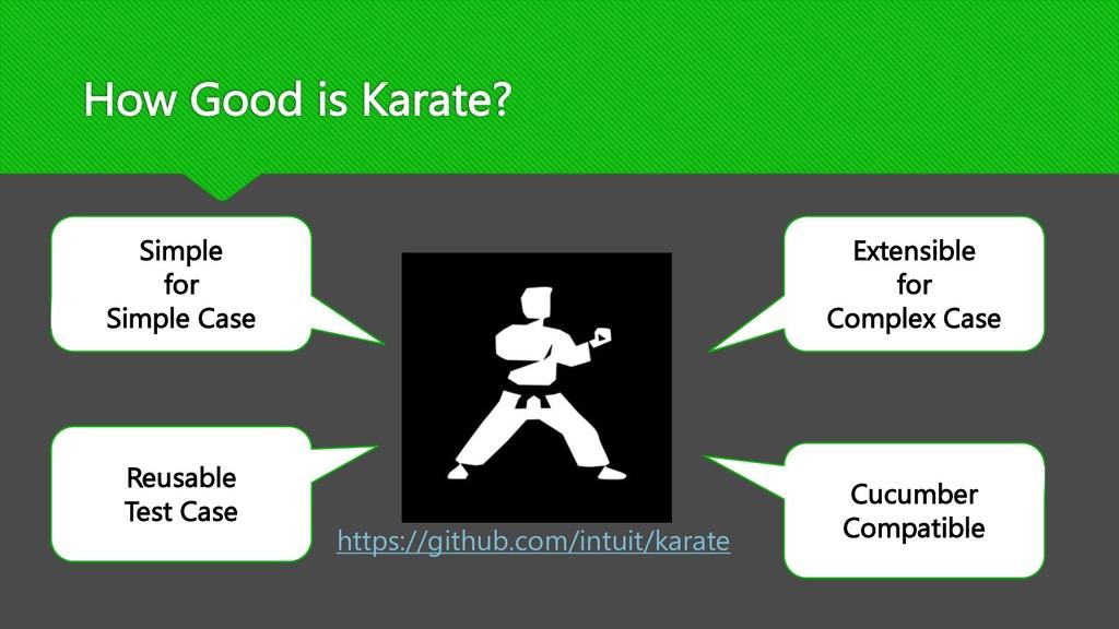 How Good is Karate? Simple for Simple Case Cucu...