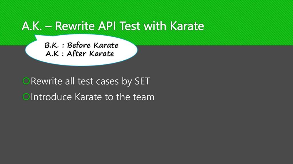 A.K. – Rewrite API Test with Karate šRewrite al...