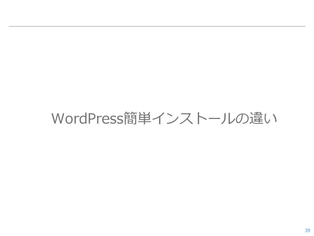 WordPress簡単インストールの違い 39
