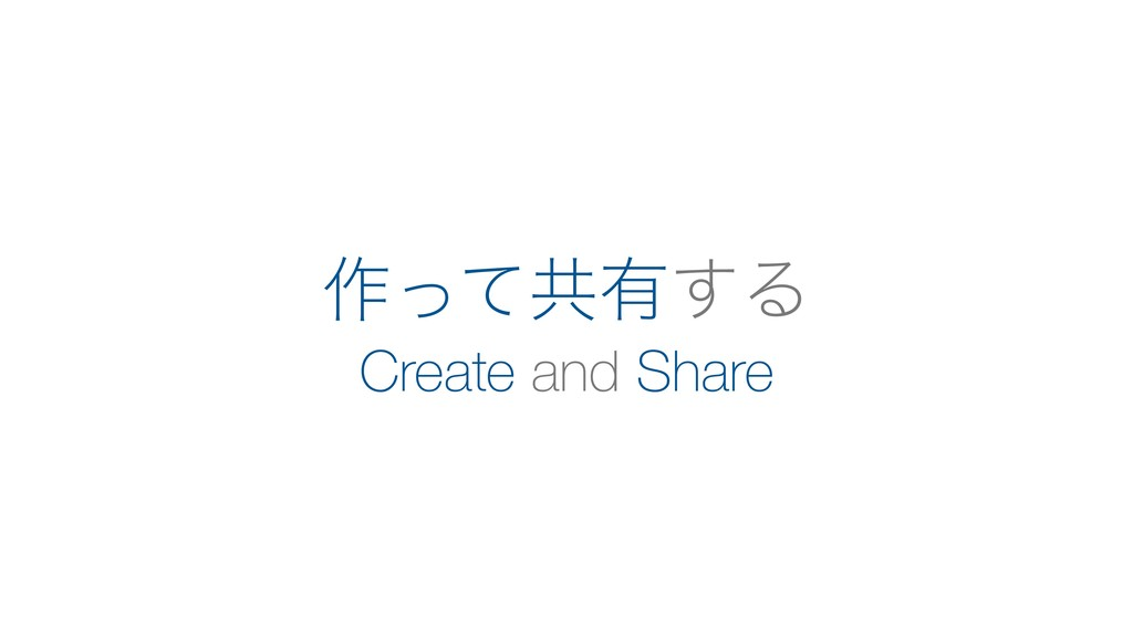 Create and Share ࡞ͬͯڞ༗͢Δ