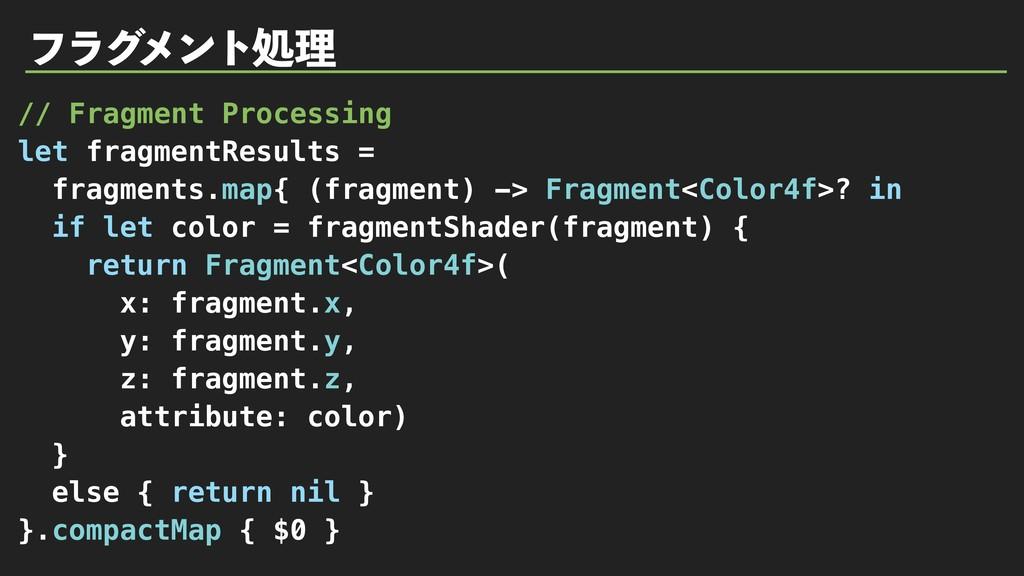 ϑϥά ϝϯτॲཧ // Fragment Processing let fragmentRe...