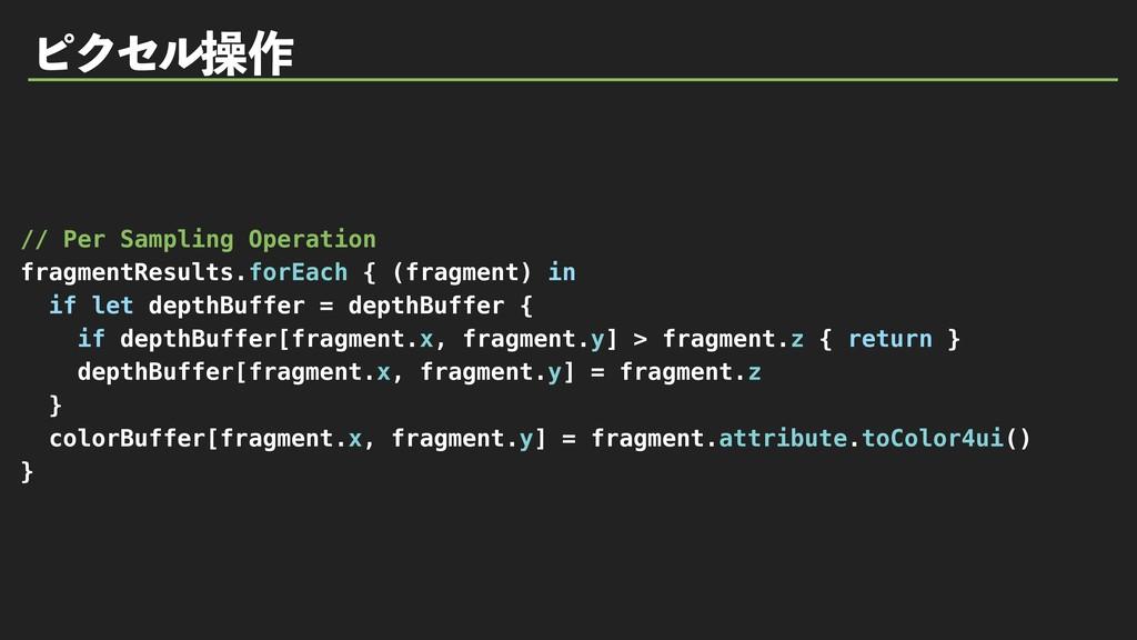 ϐΫηϧૢ࡞ // Per Sampling Operation fragmentResult...