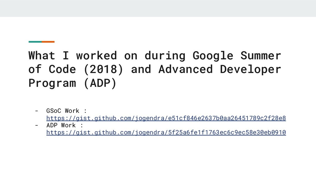 What I worked on during Google Summer of Code (...