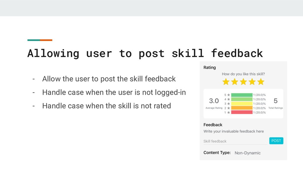 Allowing user to post skill feedback - Allow th...