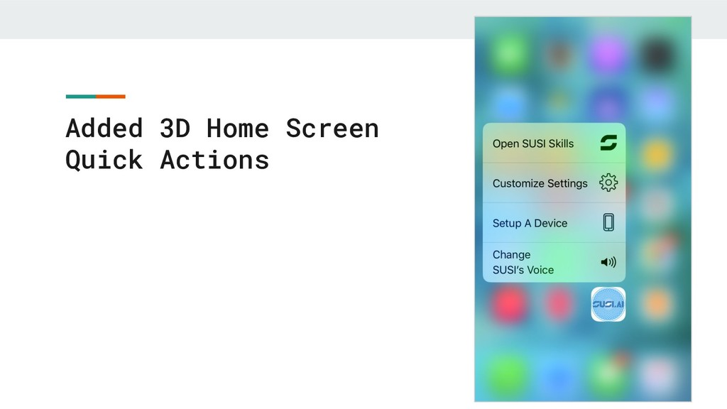 Added 3D Home Screen Quick Actions