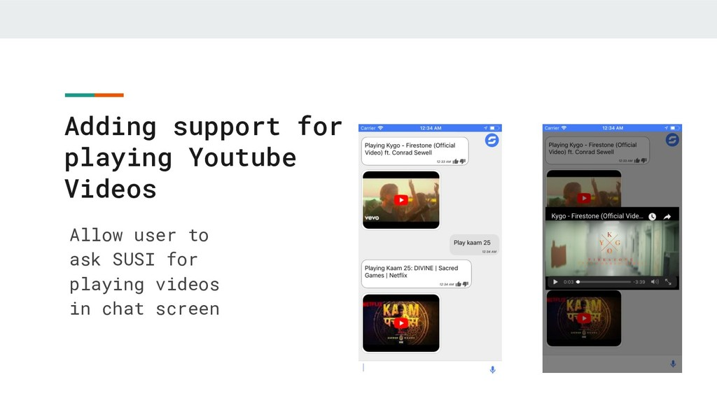 Adding support for playing Youtube Videos Allow...