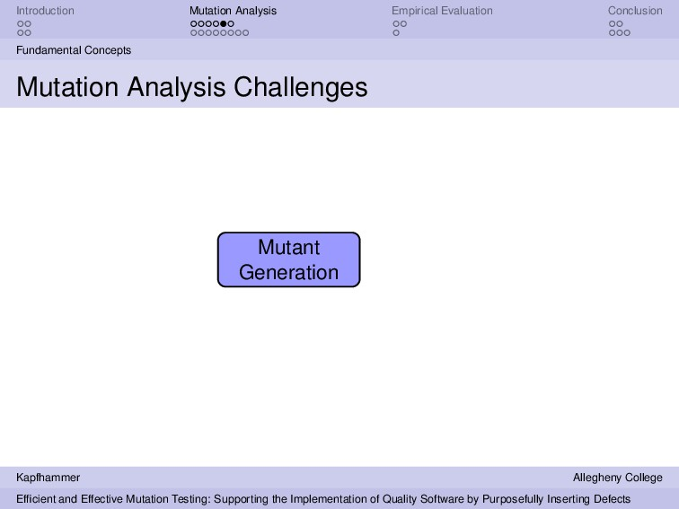 Introduction Mutation Analysis Empirical Evalua...