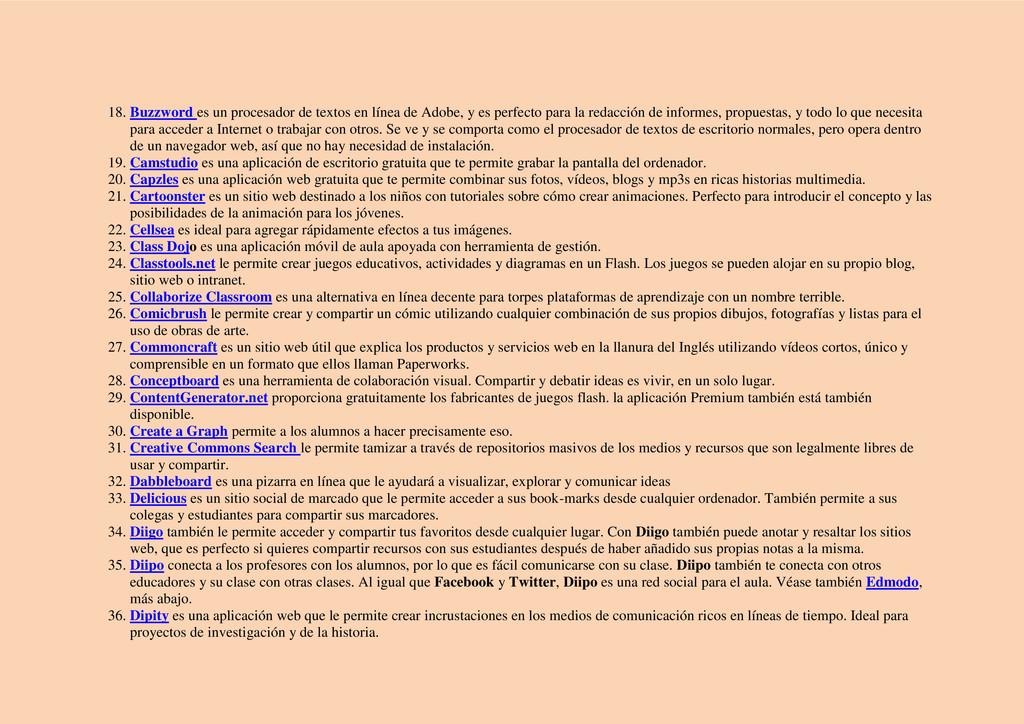 18. Buzzword es un procesador de textos en líne...