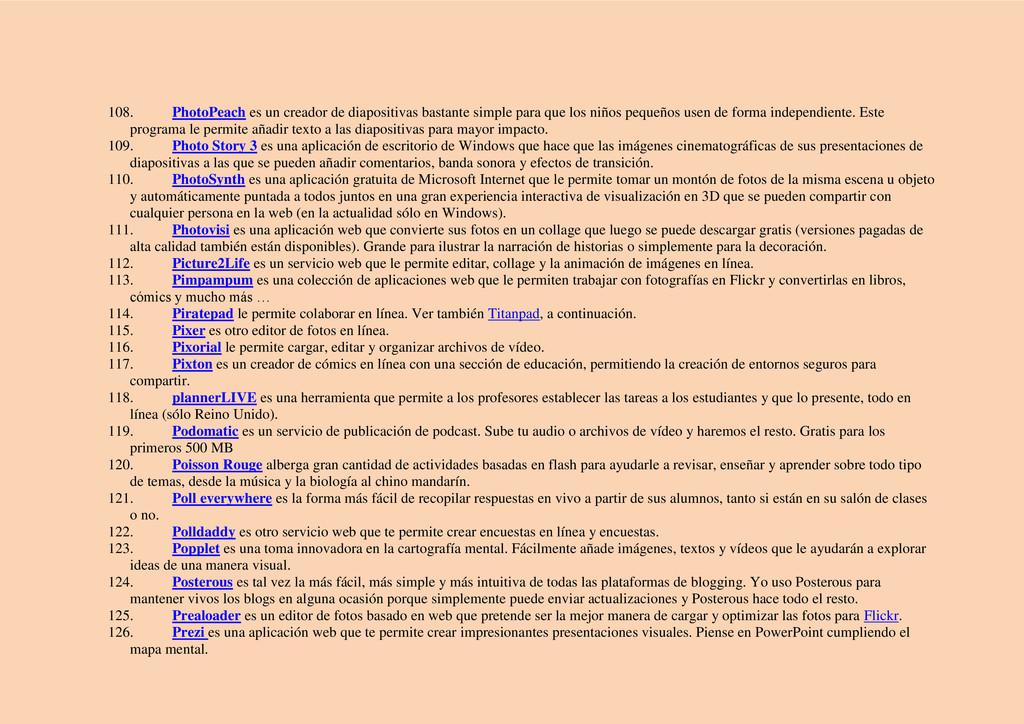 108. PhotoPeach es un creador de diapositivas b...