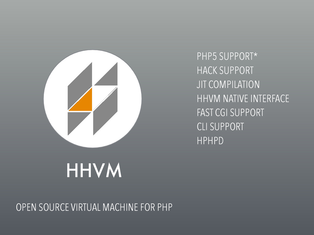 HHVM OPEN SOURCE VIRTUAL MACHINE FOR PHP PHP5 S...