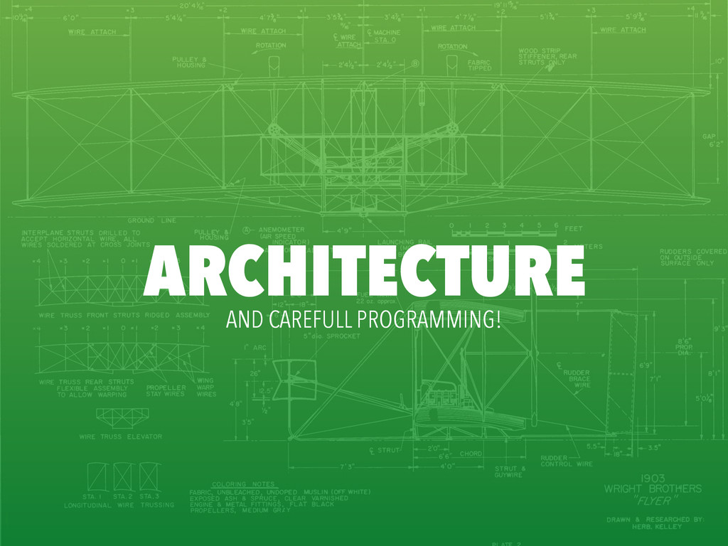 ARCHITECTURE AND CAREFULL PROGRAMMING!