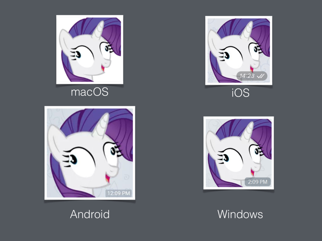 macOS iOS Android Windows