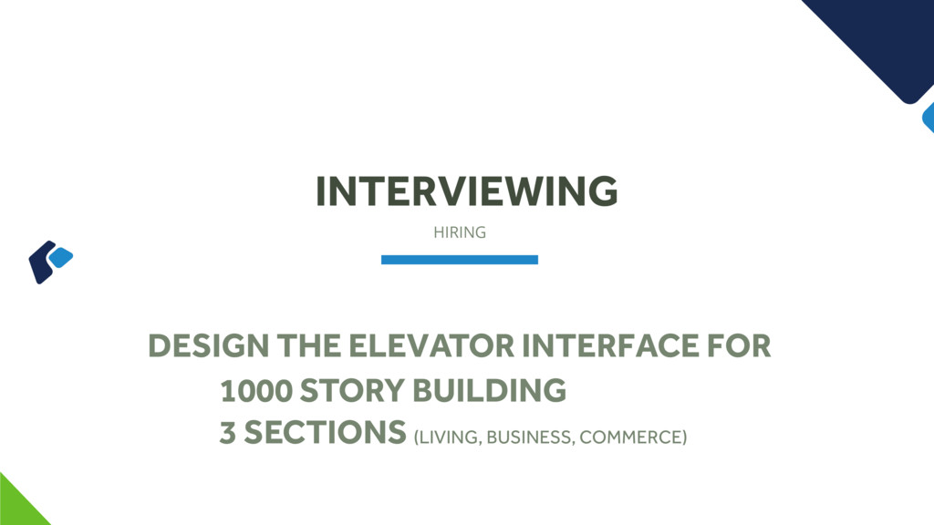 HIRING INTERVIEWING DESIGN THE ELEVATOR INTERFA...
