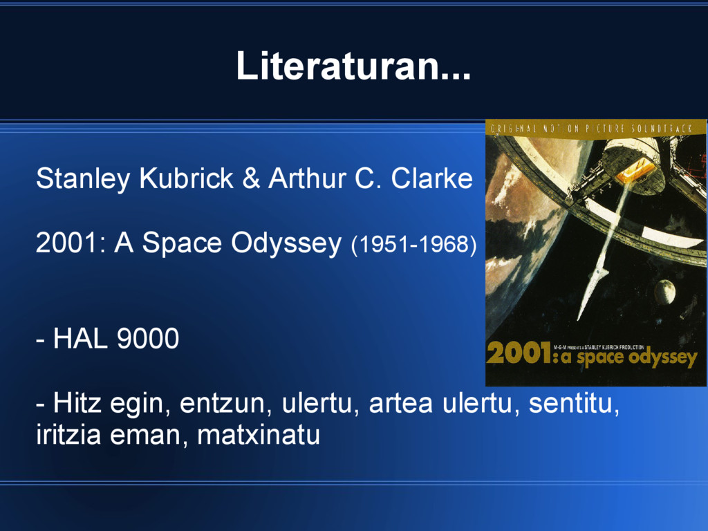 Literaturan... Stanley Kubrick & Arthur C. Clar...