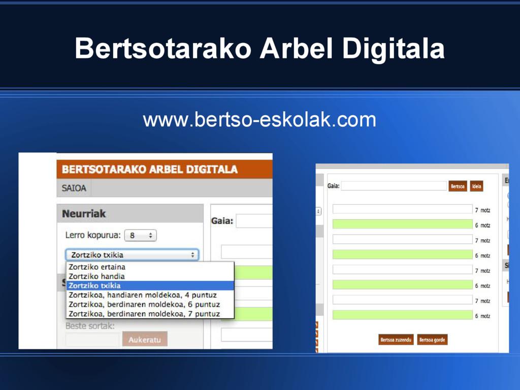 Bertsotarako Arbel Digitala www.bertso-eskolak....