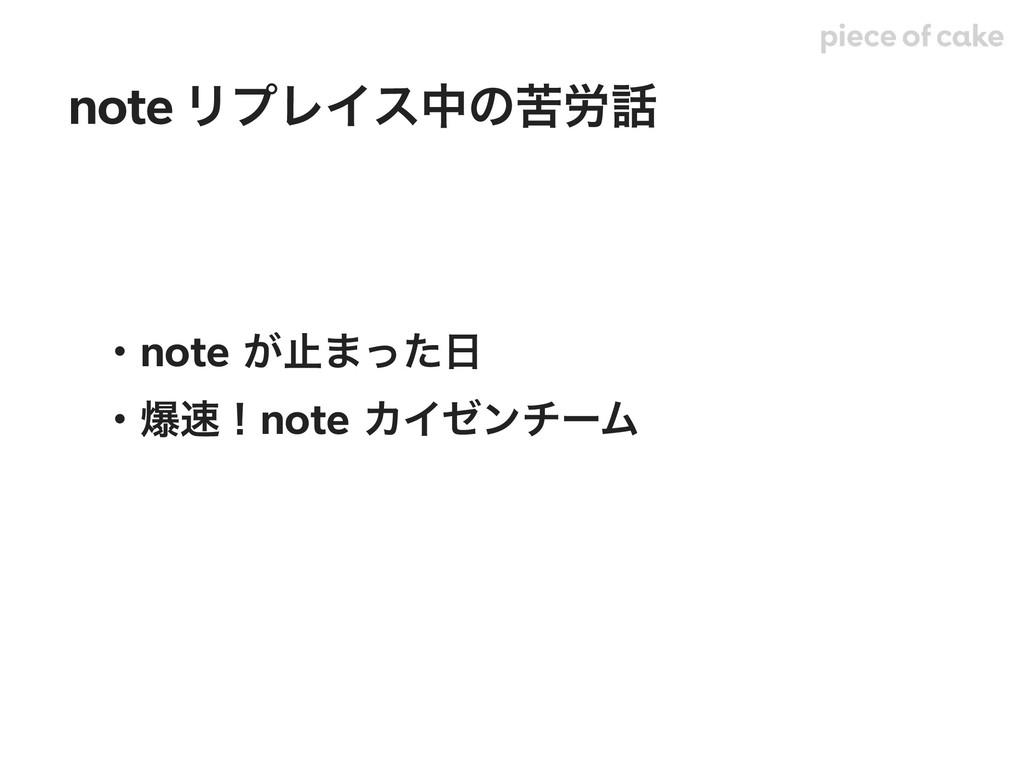 ɾnote͕ࢭ·ͬͨ ɾരʂnoteΧΠθϯνʔϜ note ϦϓϨΠεதͷۤ࿑