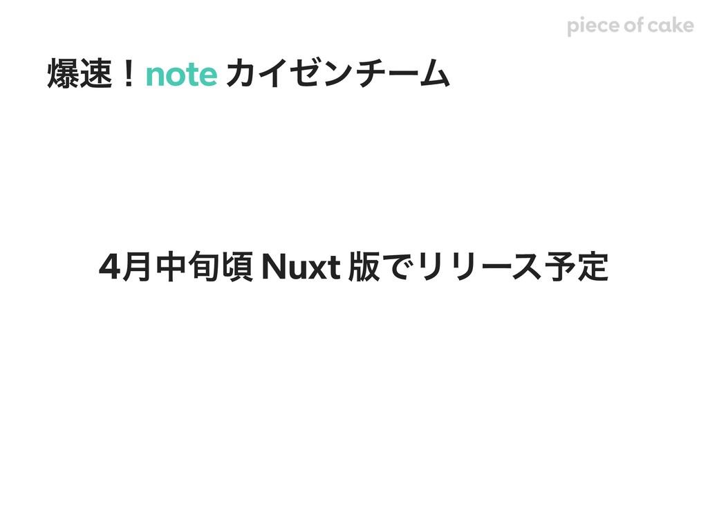 4݄த०ࠒ Nuxt ൛ͰϦϦʔε༧ఆ രʂnote ΧΠθϯνʔϜ