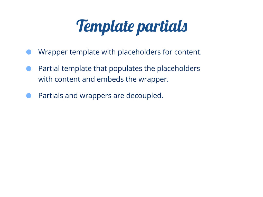 Wrapper template with placeholders for content....
