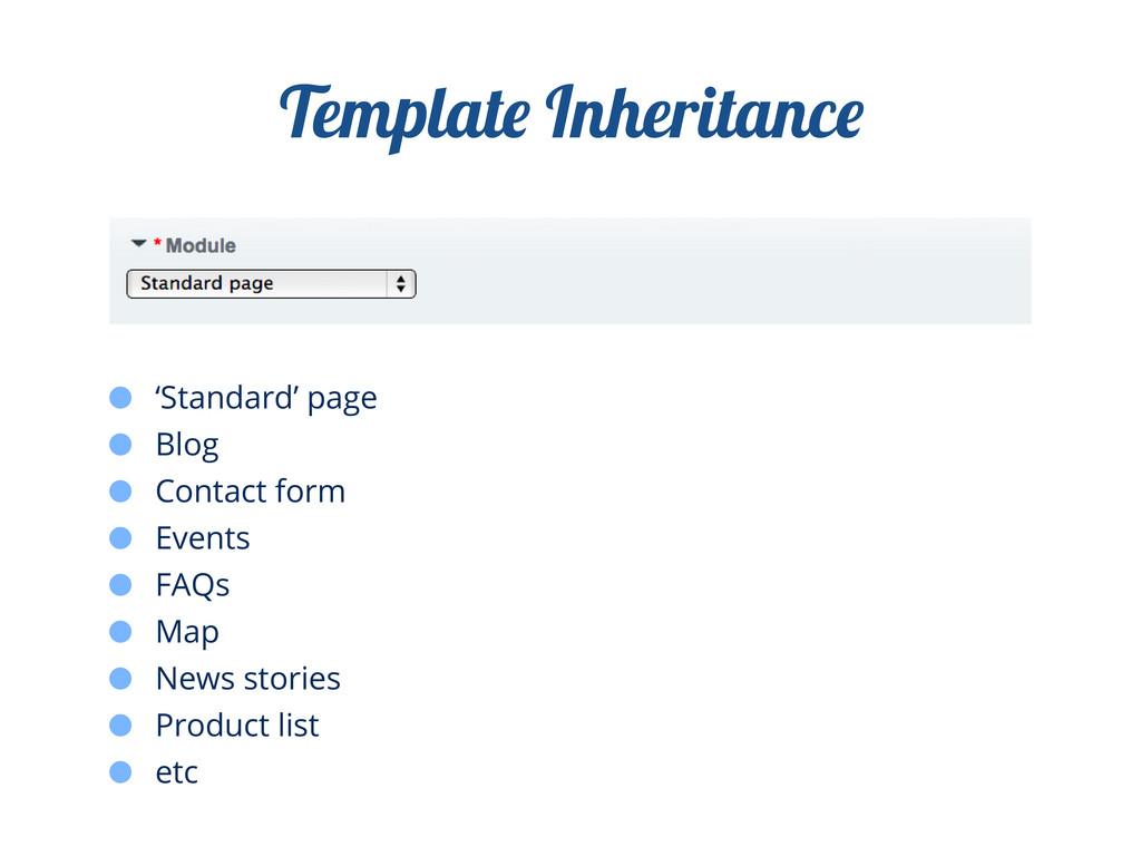 Templat Inheritanc 'Standard' page Blog Contact...