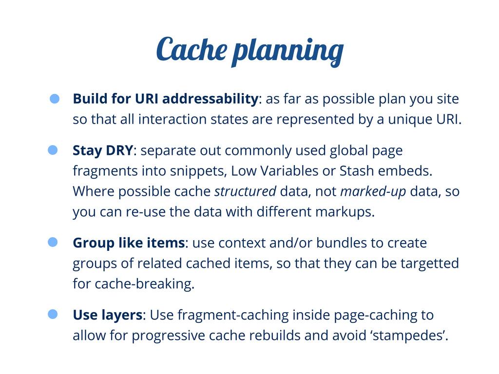 Build for URI addressability: as far as possibl...
