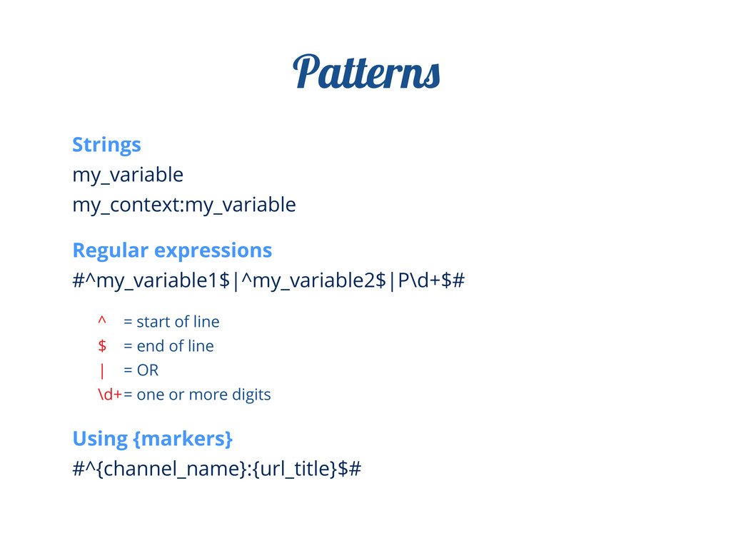 Strings my_variable my_context:my_variable Regu...