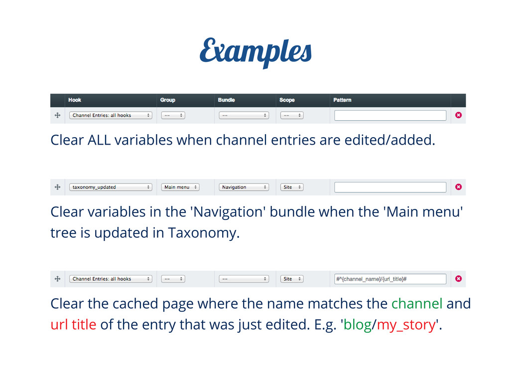 Clear ALL variables when channel entries are ed...