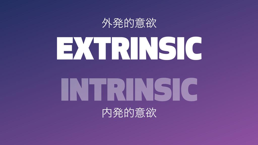 EXTRINSIC INTRINSIC ൃతҙཉ ֎ൃతҙཉ