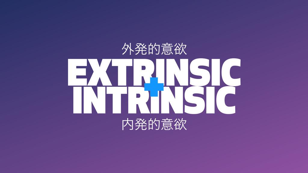 EXTRINSIC INTRINSIC + ൃతҙཉ ֎ൃతҙཉ