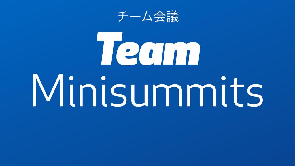 Team Minisummits νʔϜձٞ