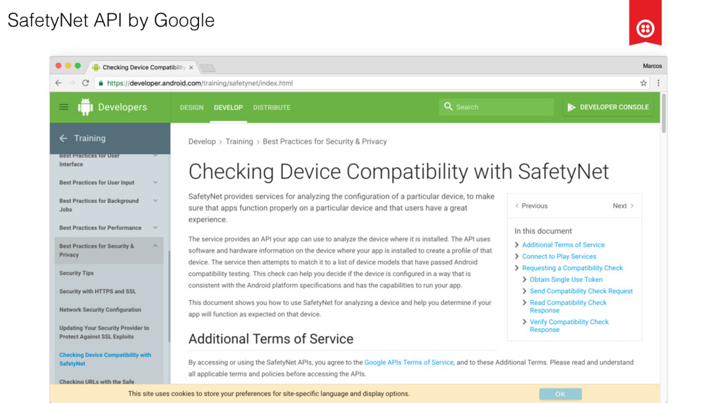 SafetyNet API by Google
