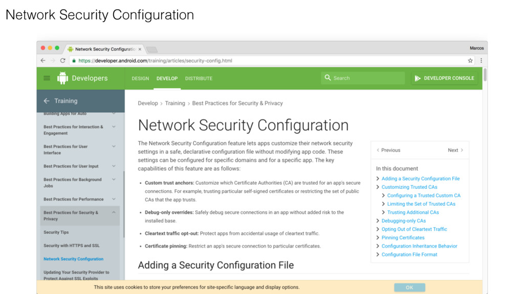 Network Security Configuration