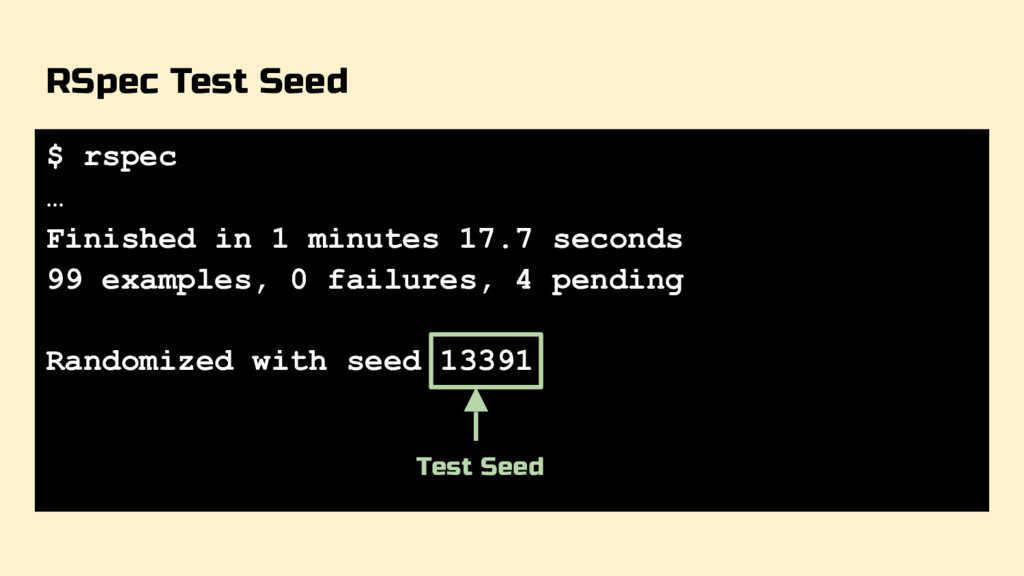 RSpec Test Seed $ rspec