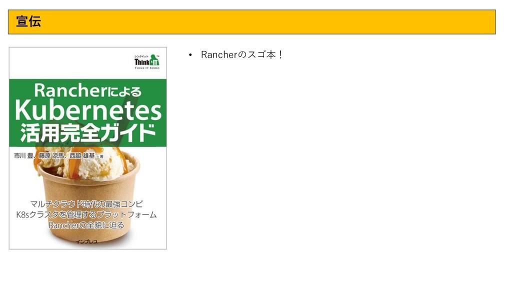 宣伝 • Rancherのスゴ本!