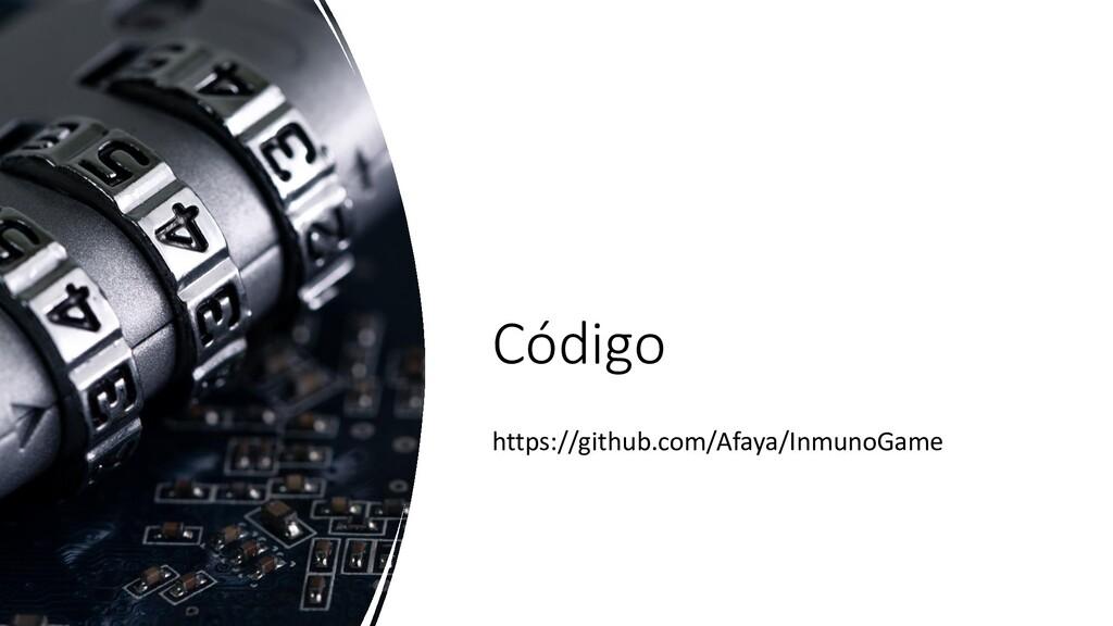 Código https://github.com/Afaya/InmunoGame