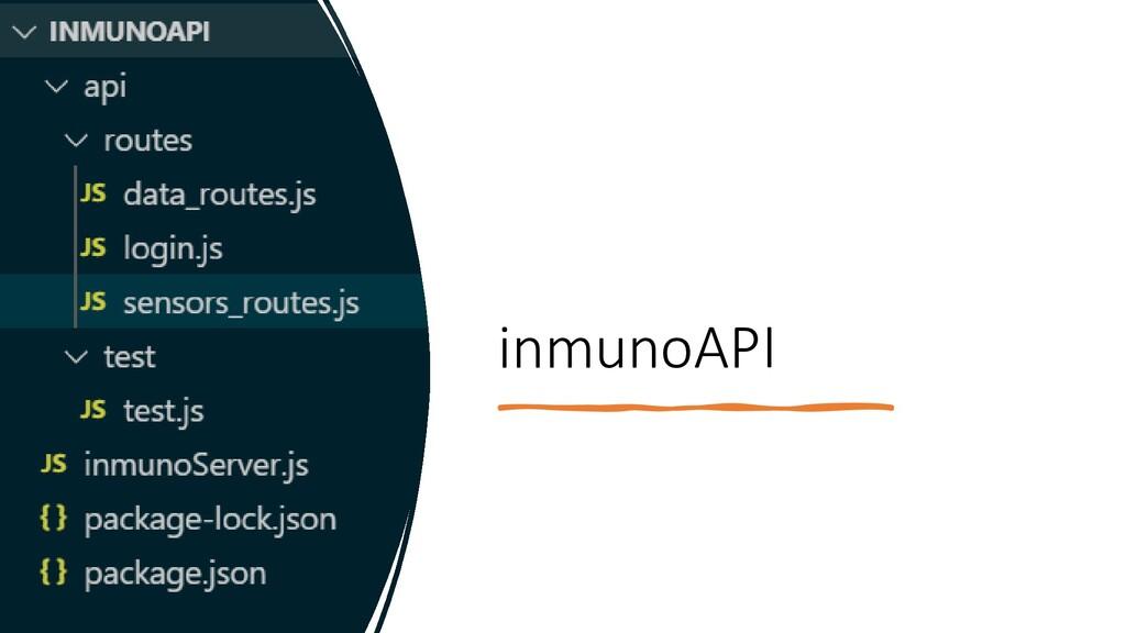 inmunoAPI