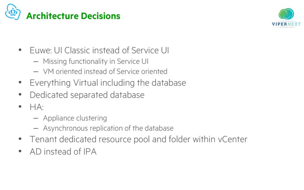 Architecture Decisions • Euwe: UI Classic inste...