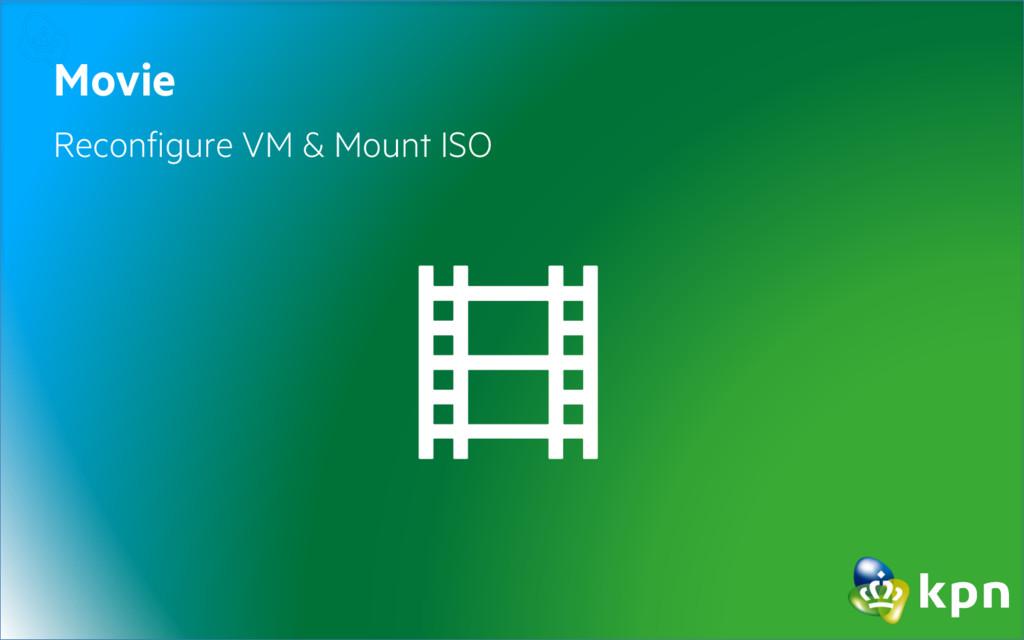 Movie Reconfigure VM & Mount ISO