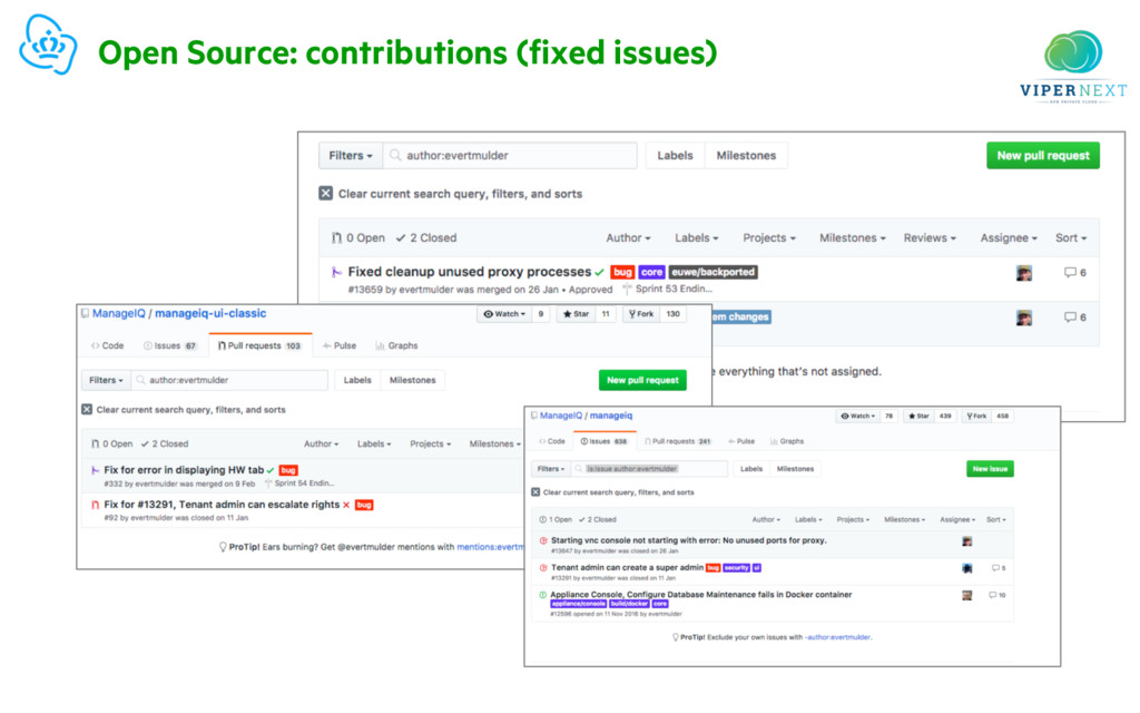 Open Source: contributions (fixed issues)